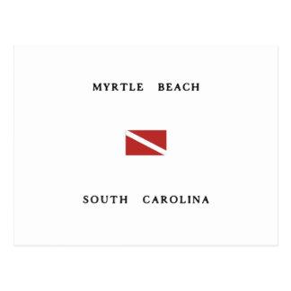 Myrtle Beach South Carolina Scuba Dive Flag Postcard