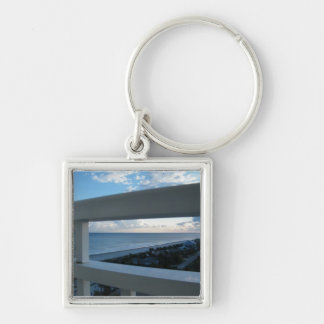 Myrtle Beach, South Carolina Silver-Colored Square Keychain