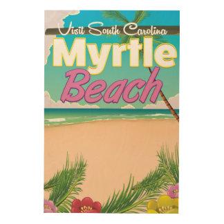 Myrtle Beach South Carolina travel poster Wood Print