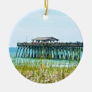 Myrtle Beach State Park Fisdhing Pier Ceramic Ornament