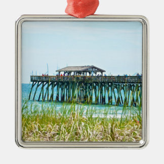 Myrtle Beach State Park Fisdhing Pier Metal Ornament