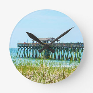Myrtle Beach State Park Fisdhing Pier Round Clock
