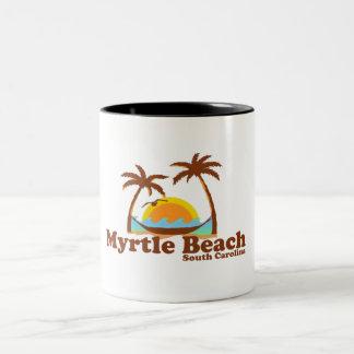 Myrtle Beach. Taza De Café De Dos Colores