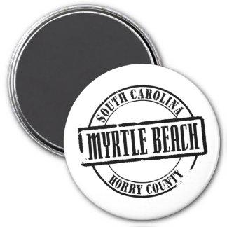 Myrtle Beach Title 3 Inch Round Magnet