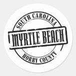 Myrtle Beach Title Round Sticker