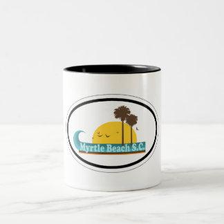 Myrtle Beach. Two-Tone Coffee Mug