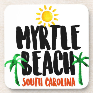 Myrtle Beach Watercolor Beverage Coaster