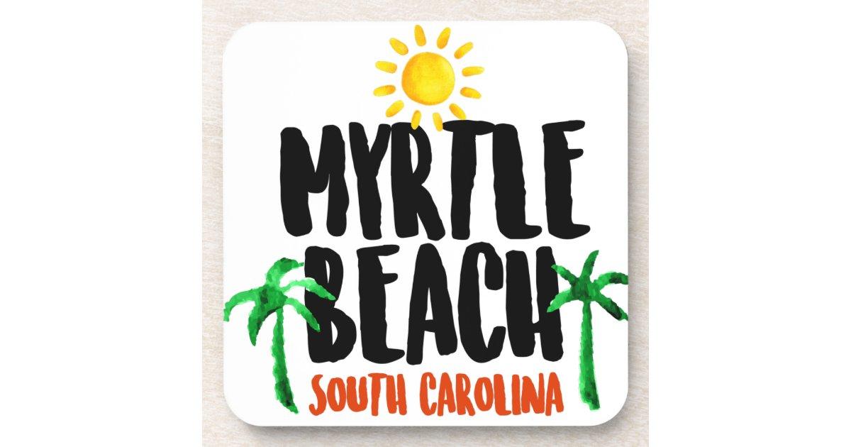 Myrtle Beach Watercolor Beverage Coaster