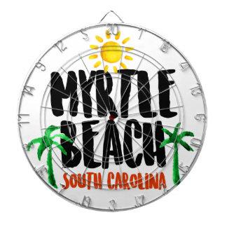 Myrtle Beach Watercolor Dart Board