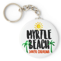 Myrtle Beach Watercolor Keychain