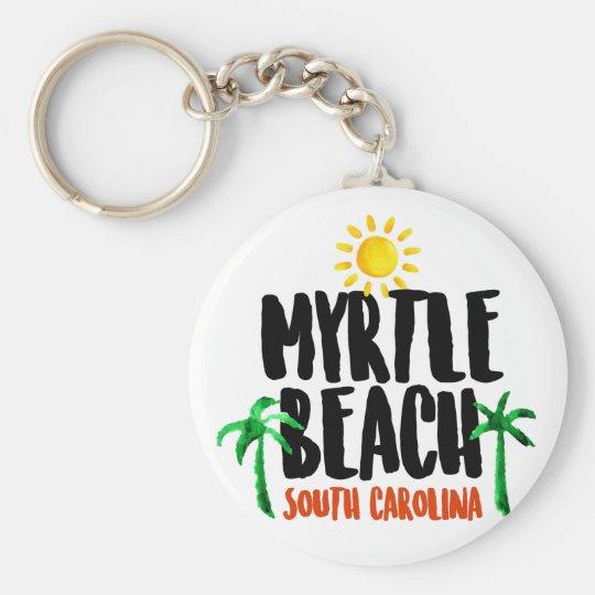 Myrtle Beach Watercolor Keychain