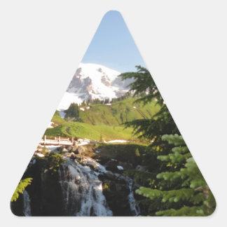 Myrtle Falls, Mount Rainier Triangle Sticker