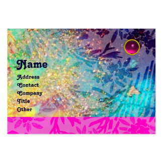 MYRTLE MONOGRAM blue turquase fuchsia amethyst Business Card Templates