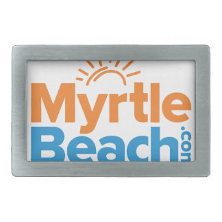 MyrtleBeach.com Logo Rectangular Belt Buckle