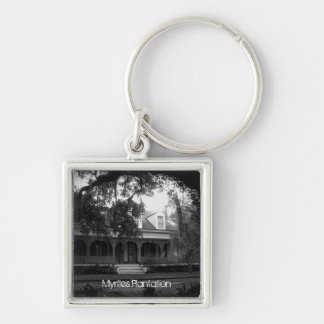 Myrtles Plantation in black and white Keychain