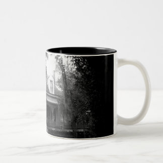 Myrtles Plantation in black and white Two-Tone Coffee Mug