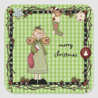 mys  Country Angel Christmas sticker