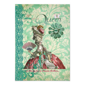"""Mys Queen Mother's Day invitation 5"""" X 7"""" Invitation Card"""