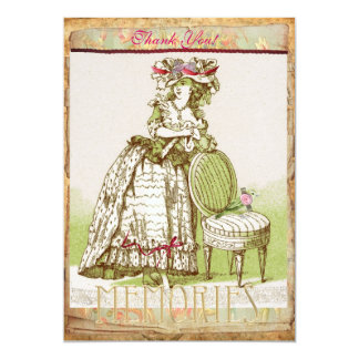Mys Victorian Lady Thank You card