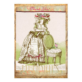 Mys Victorian Lady Thank You card Personalized Announcements