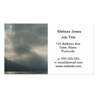 Myserious Stormy Skies by the Lake Business Card