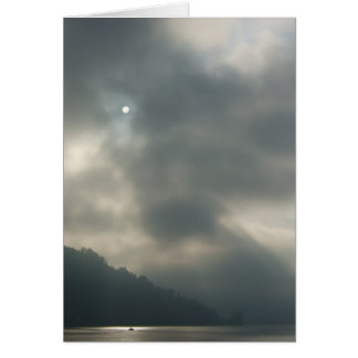 Myserious Stormy Skies by the Lake Card