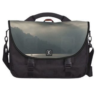 Myserious Stormy Skies by the Lake Laptop Bag