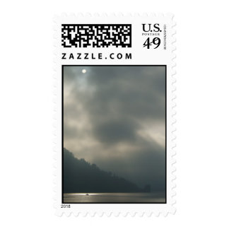Myserious Stormy Skies by the Lake Stamps