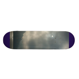 Myserious Stormy Skies by the Lake Skateboard Deck
