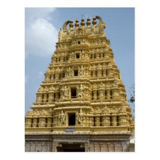 Mysoram temple in India Postcard