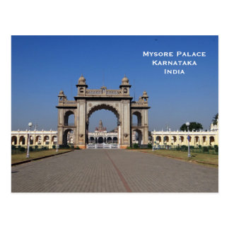 Mysore Palace India Vintage Tourism Travel Add Postcard