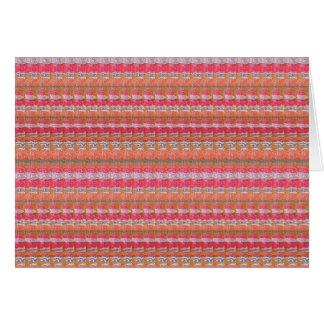 Mysore Silk Fabric Print Pattern from India Unique Card