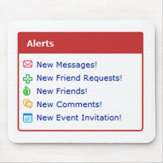 Myspace alerts online funny parody mouse pad