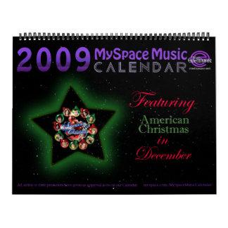 MYSPACE CALENDAR featuring AMERICAN CHRISTMAS IDOL
