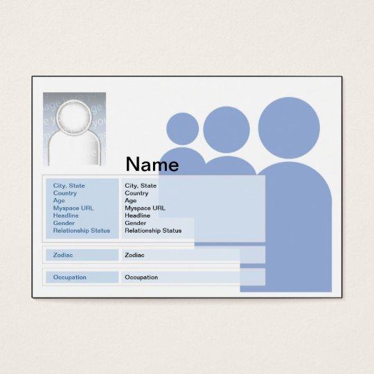 Myspace - Chubby Business Card