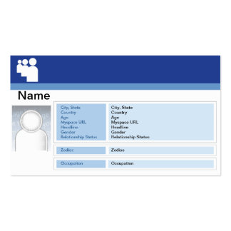 Myspace Dark - Business Double-Sided Standard Business Cards (Pack Of 100)