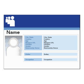 Myspace Dark - Chubby Large Business Cards (Pack Of 100)