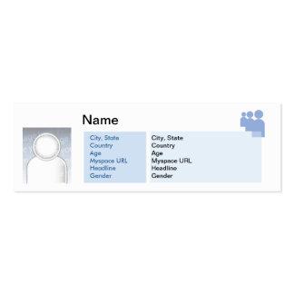 Myspace - flaco tarjetas de visita mini