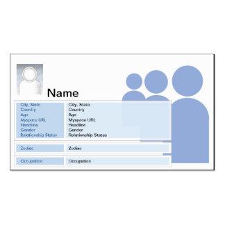 Myspace - negocio tarjetas de visita