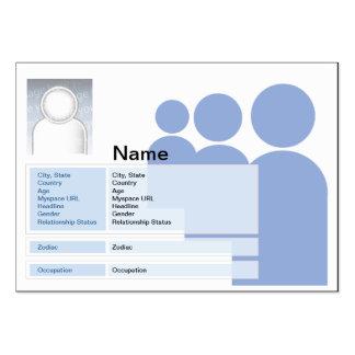 Myspace - rechoncho tarjetas de visita grandes