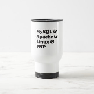 Mysql Apache Linux PHP Travel Mug