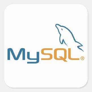 MySQL - pegatinas para los sysadmins Pegatinas Cuadradases