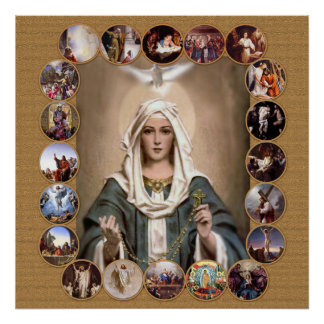 MYSTERIES OF THE HOLY ROSARY, POSTER