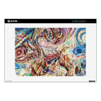 "Mysterious Abstract Swirls Colors And Patterns 13"" Laptop Skins"