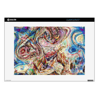 Mysterious Abstract Swirls Colors and Patterns Laptop Decal