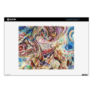Mysterious Abstract Swirls Colors and Patterns Laptop Skins
