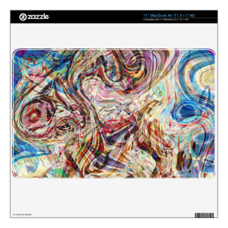 Mysterious Abstract Swirls Colors and Patterns MacBook Air Decals