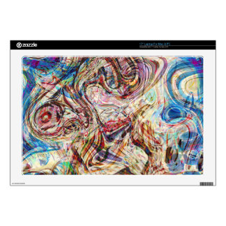 Mysterious Abstract Swirls Colors and Patterns Skin For Laptop