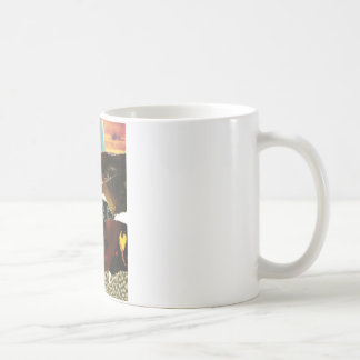 Mysterious Abstract Woman Collage Coffee Mug
