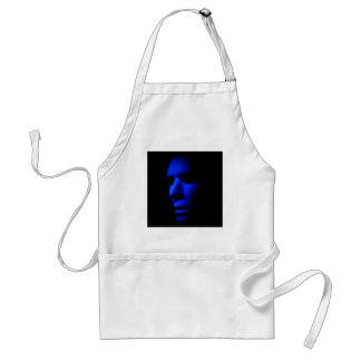Mysterious Alien Ghostly Face in the Dark.jpg Adult Apron